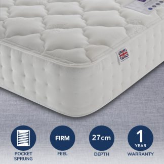 An Image of Rest Assured 1400 Pocket Silk Mattress White