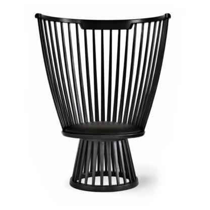 An Image of Tom Dixon Fan Chair Black