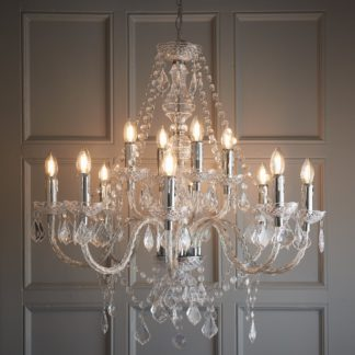 An Image of Endon Clarence 12 Light Chandelier Chrome Chrome
