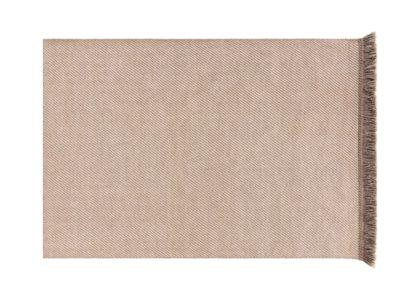 An Image of Gandia Blasco Garden Layers Rug Diagonal Almond Ivory