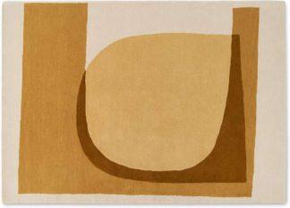 An Image of Helvi Handtufted Wool Rug, Large 160 x 230cm, Ecru & Tan