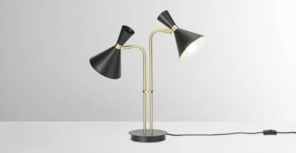An Image of Axton Duo Table Lamp, Black & Brushed Brass