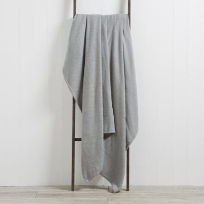 An Image of Hampton 200cm x 200cm Throw Grey