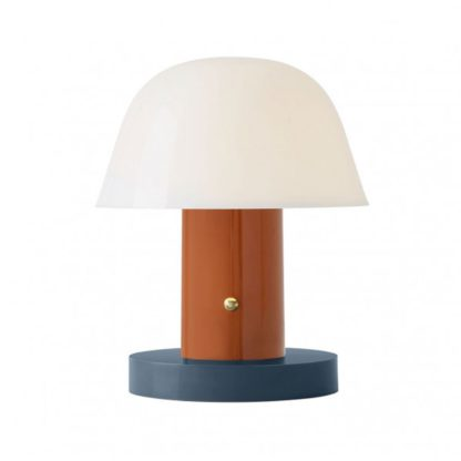 An Image of Setago Table Lamp JH27 Rust and Thunder