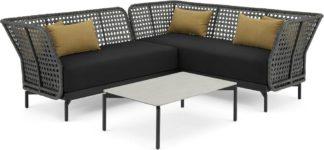 An Image of Balawa Garden Corner Sofa Set, Grey