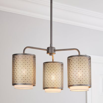 An Image of Vienna 3 Light Ceiling Fitting Champagne