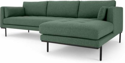 An Image of Harlow Right Hand Facing Chaise End Corner Sofa, Darby Green