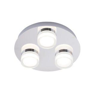 An Image of Spa Amalfi 3 Light Bathroom Ceiling Fitting Chrome