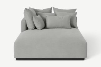 An Image of Laurin Left Hand Facing Chaise End Unit, Frost Grey Linen