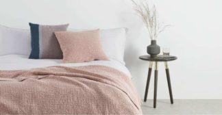An Image of Grove 50 x 50cm 100% Cotton Cushion, Dusky Pink
