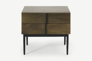 An Image of Rakara Bedside Table, Warm Chestnut Mango Wood