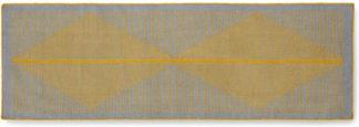 An Image of Camden Wool Runner 66 x 200cm, Grey and Mustard