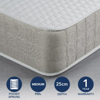 An Image of Fogarty Luxe Memory Foam and 1000 Pocket Spring Mattress White