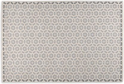 An Image of Trio Wool Rug, Extra Large 200 x 300cm, Tonal Grey