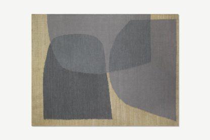 An Image of Casaco Jute & Wool Blend Rug, Large 160 x 230cm, Indigo Blue