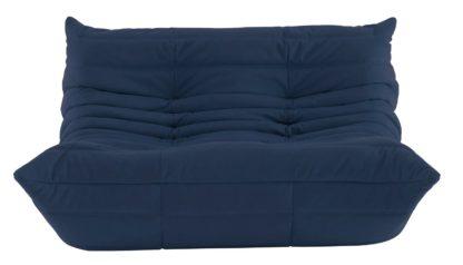 An Image of Ligne Roset Togo 2 Seater Sofa Alcantara Powder Blue