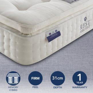 An Image of Rest Assured 2000 Pocket Memory Firmer Mattress White