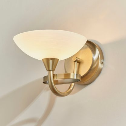 An Image of Endon Cagney Wall Light Brass Brown