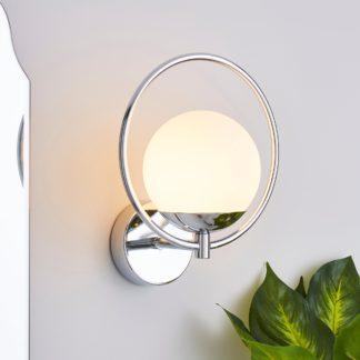 An Image of Fort Halo Bathroom Wall Light Chrome Chrome