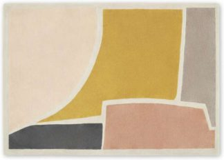 An Image of Juula Large Hand Tufted Wool Rug, 160 x 230cm, Pink
