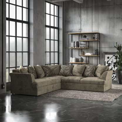 An Image of Mellors Chenille Corner Sofa Pewter