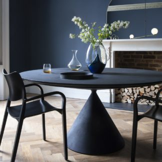 An Image of Desalto Clay Round Table - Lava Stone