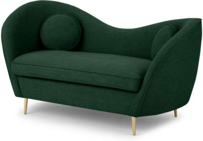 An Image of Kooper 2 Seater Sofa, Forest Green Weave