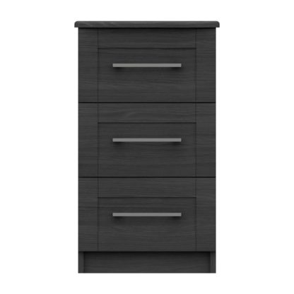 An Image of Ethan Graphite 2 Drawer Bedside Grey
