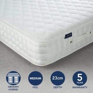 An Image of Fogarty Cool Blue 1500 Pocket Sprung Mattress White