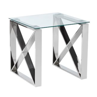 An Image of 5A Fifth Avenue Madison Side Table Chrome