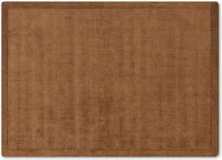 An Image of Jago Border Rug, Extra Large 200 x 300cm, Terracotta