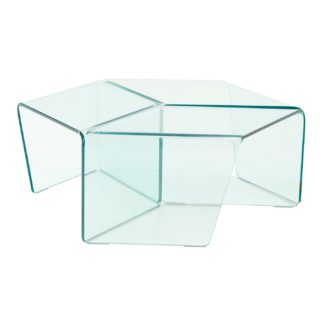 An Image of Ligne Roset Rosis Set of 3 Clear Glass Side Tables