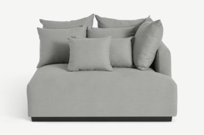 An Image of Laurin Right Hand Sofa Unit, Frost Grey Linen