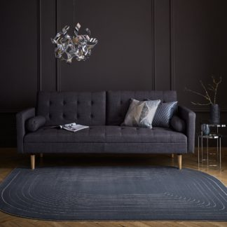 An Image of Tobias Shaped Rug Grey
