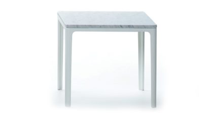 An Image of Vitra Plate Table Small Square Marble