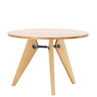 An Image of Vitra Guéridon 2-4 Seater Table Natural Solid Oak