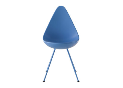 An Image of Fritz Hansen Drop Chair Monochrome If in Doubt Blue