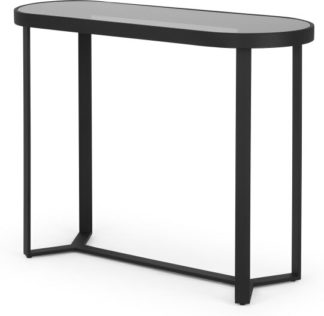 An Image of Aula Console Table, Black & Grey Glass