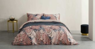 An Image of Jangala Cotton Duvet Cover + 2 Pillowcases, Double, Pink UK