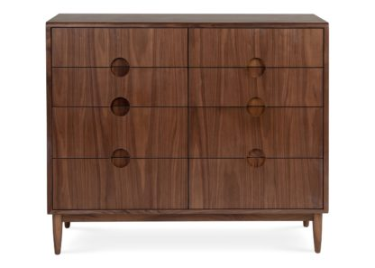 An Image of Heal's Amira 8 Drawer Wide Chest Walnut