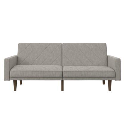 An Image of Paxson Linen Sofa Bed Black