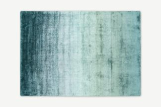 An Image of Tazim Graded Viscose Rug, Large 160 x 230cm, Dark Teal