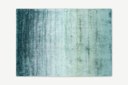An Image of Tazim Graded Viscose Rug, Large 160 x 230cm, Dark Teal