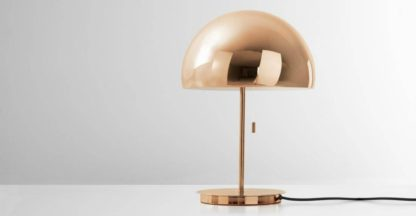 An Image of Collet Dome Table Lamp, Champagne Copper
