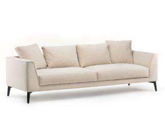 An Image of De La Espada McQueen 4 Seater Sofa Natural Coda 2 Upholstery