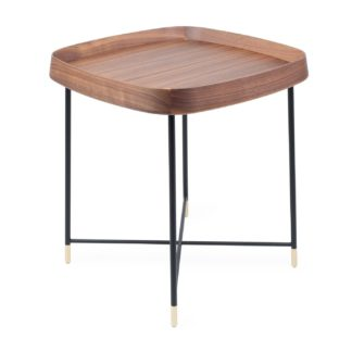 An Image of Porada Fritz 4 Square Side Table Walnut