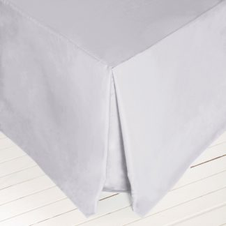 An Image of Dorma 500 Thread Count 100% Cotton Sateen Silver Valance Silver