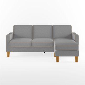 An Image of Bowen Chenille Corner Sofa Grey