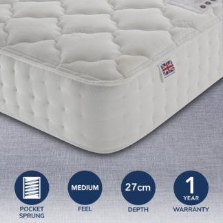 An Image of Rest Assured 800 Pocket Silk Mattress White