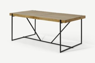 An Image of Morland 6-8 Seat Extending Dining Table, Light Mango Wood